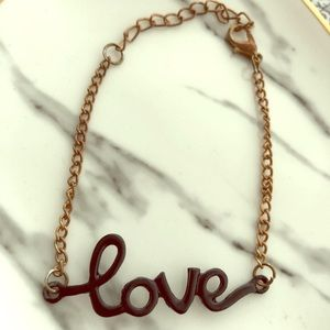 """Jewelry - """"Love"""" anklet"""